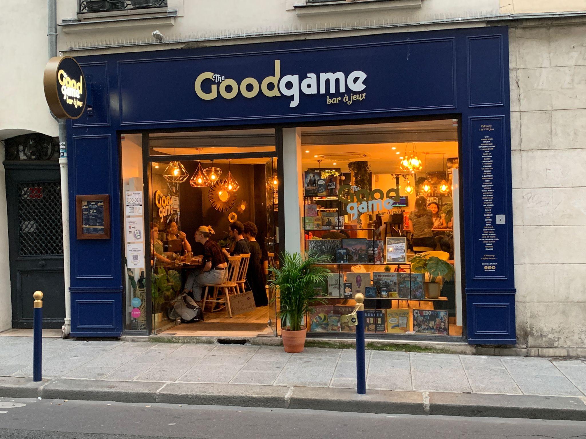 The Good Game, bar à jeux Paris (façade)